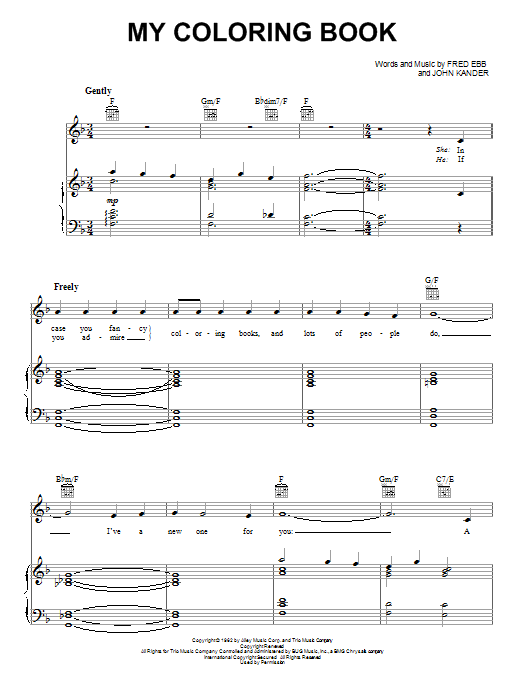My Coloring Book sheet music