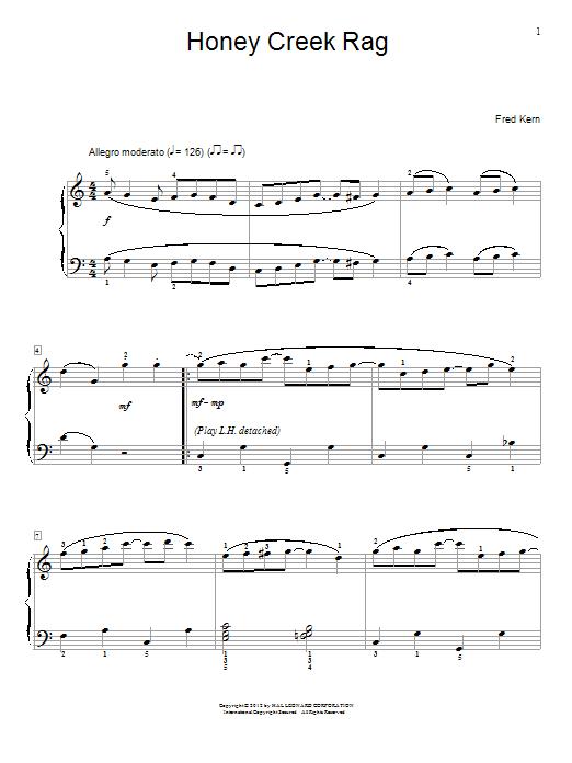 Honey Creek Rag sheet music
