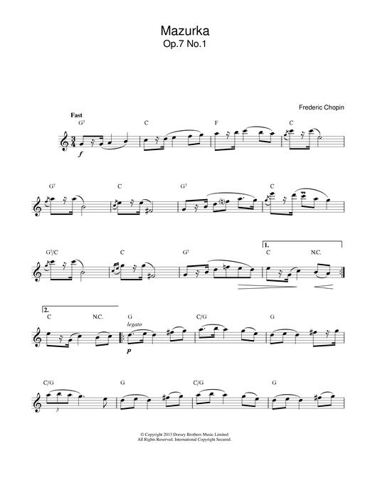 Mazurka Op.7, No.1 sheet music