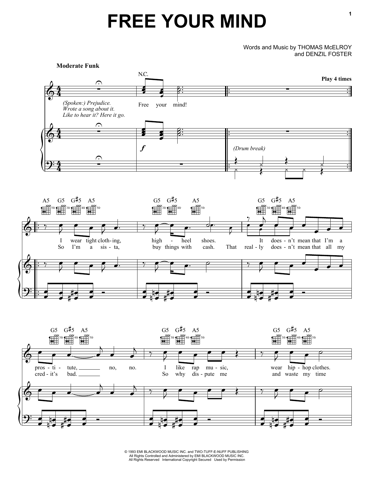 Free Your Mind sheet music