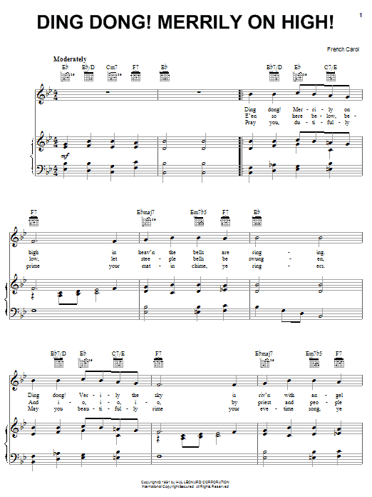 Ding Dong! Merrily On High! sheet music