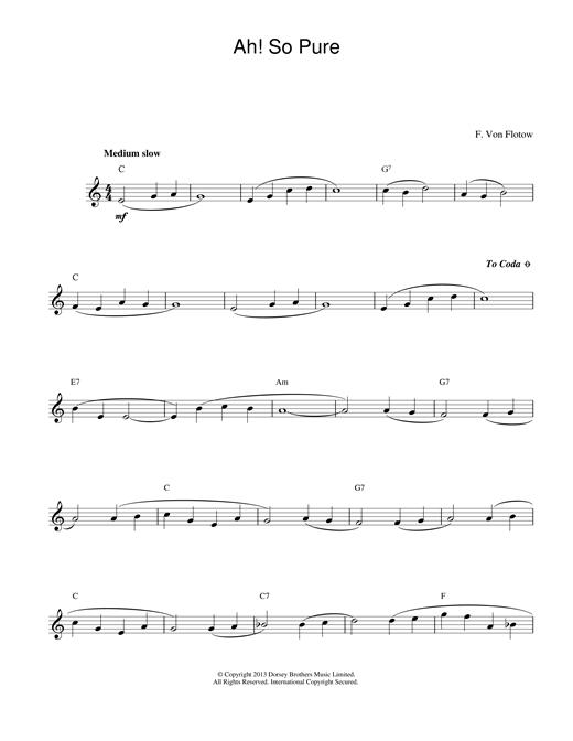 Ah! So Pure sheet music