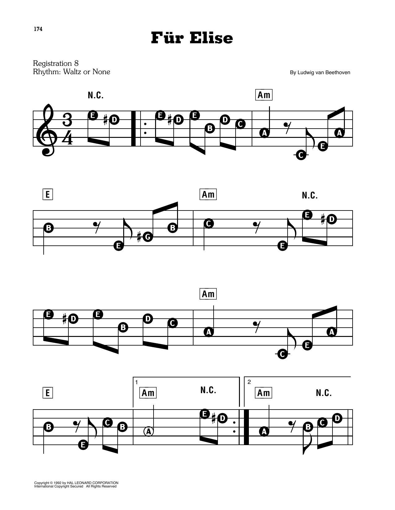 fur elise sheet music pdf