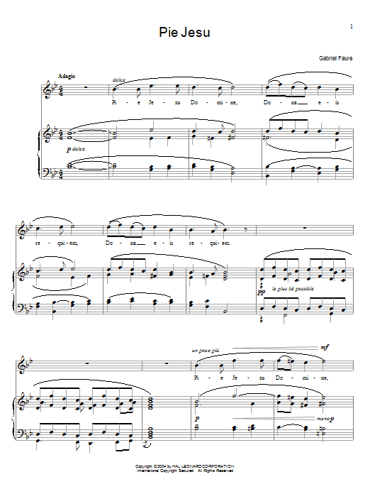 Pie Jesu sheet music