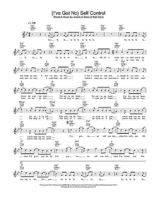 (I've Got No) Self Control sheet music
