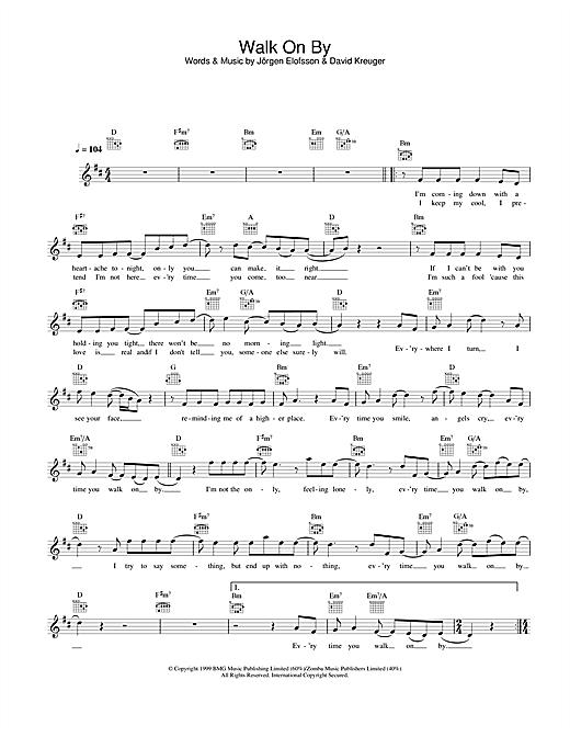 Walk On By sheet music