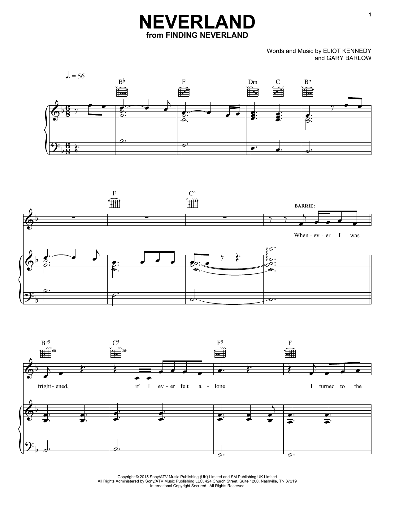 Neverland sheet music