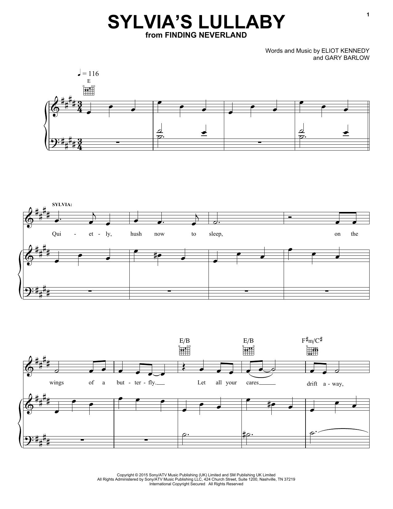 Sylvia's Lullaby sheet music