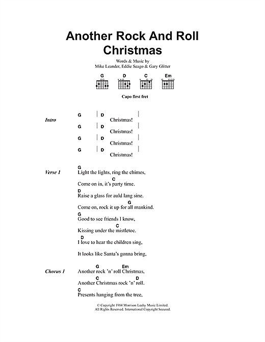 Another Rock And Roll Christmas sheet music