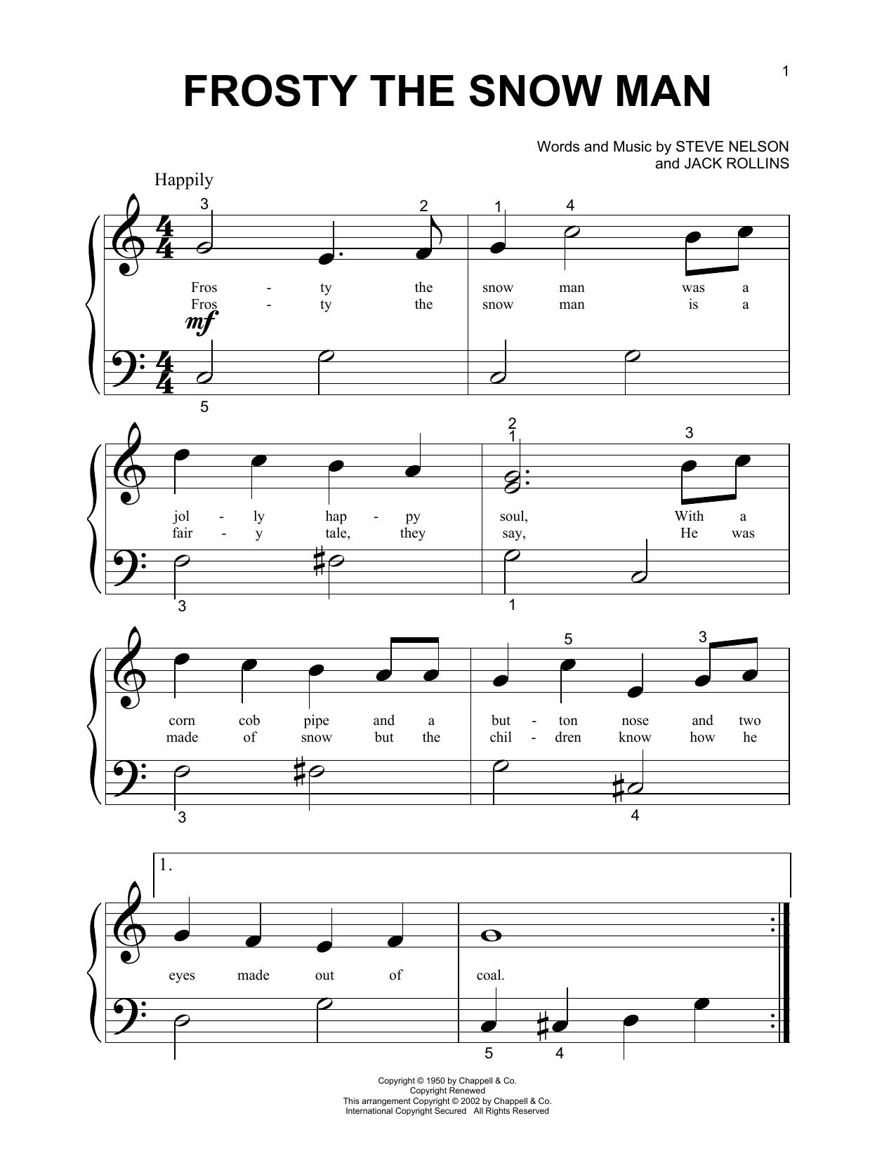 Frosty The Snow Man sheet music
