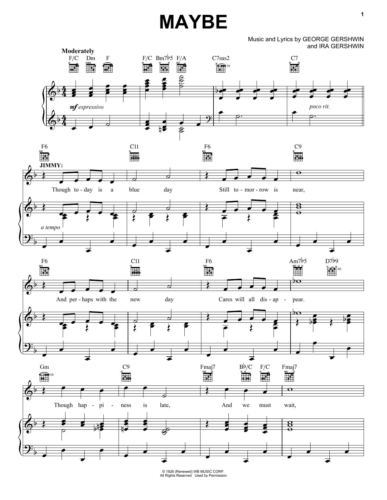 Maybe sheet music