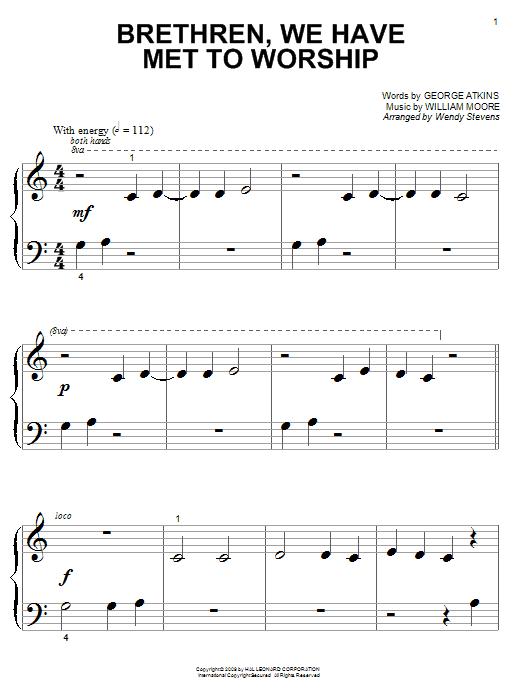 Brethren, We Have Met To Worship sheet music