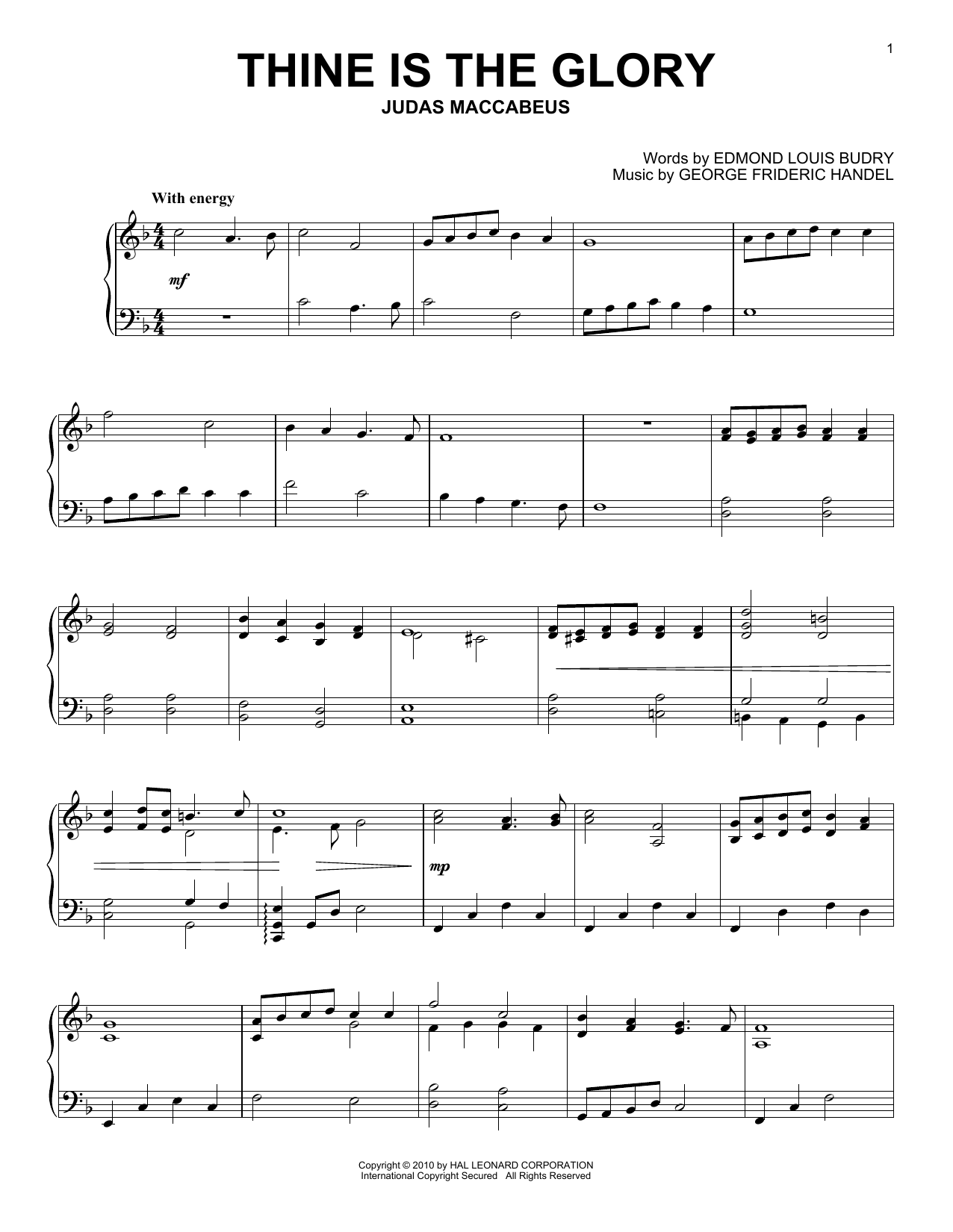 Thine Is The Glory sheet music