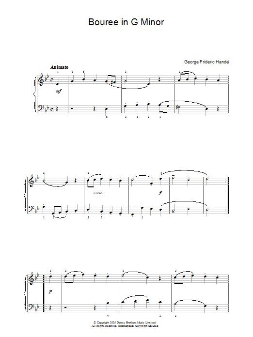 Bouree In G Minor sheet music