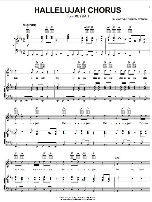 Hallelujah Chorus (from The Messiah) sheet music