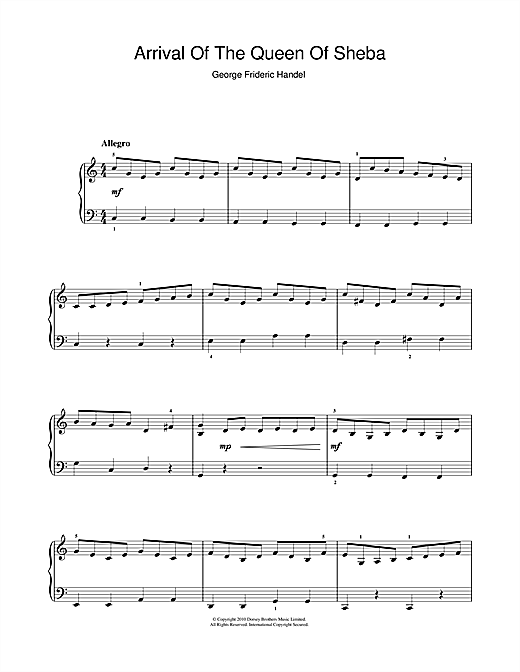 The Arrival Of The Queen Of Sheba (from Solomon) sheet music