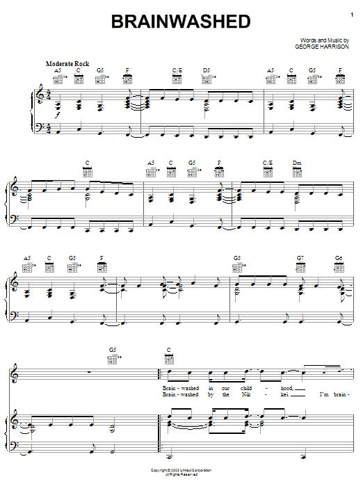 Brainwashed sheet music