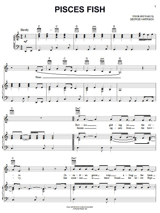 Pisces Fish sheet music