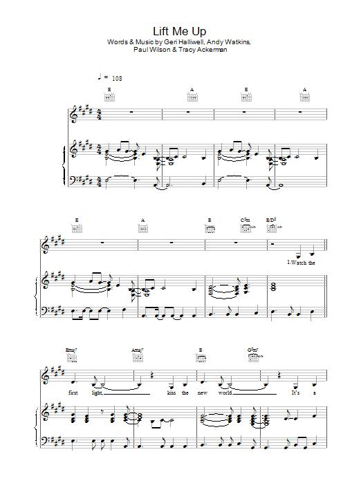 Lift Me Up sheet music