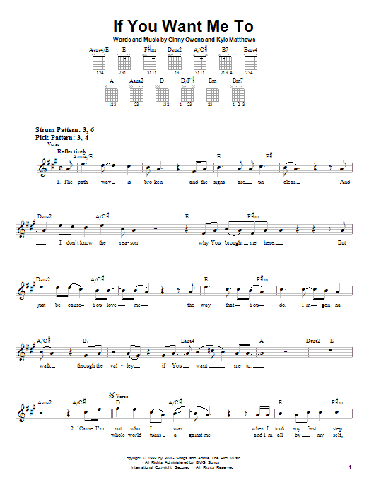 If You Want Me To sheet music