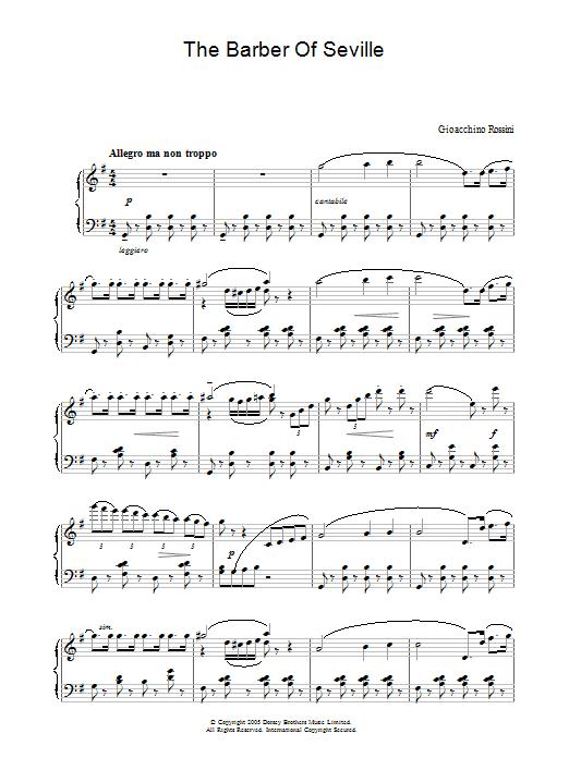 The Barber Of Seville sheet music