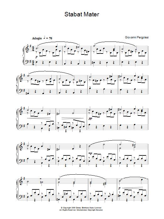 Stabat Mater sheet music