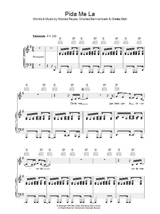 Pida Me La sheet music