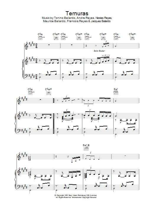 Ternuras sheet music