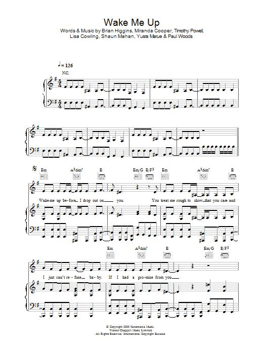Wake Me Up sheet music