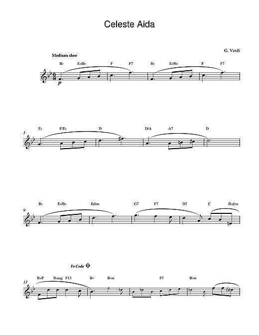 Celeste Aida sheet music