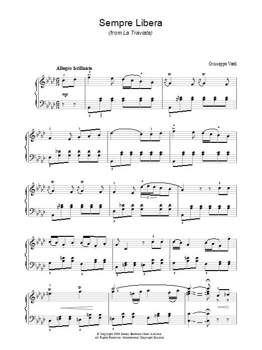 Sempre Libera (from La Traviata) sheet music