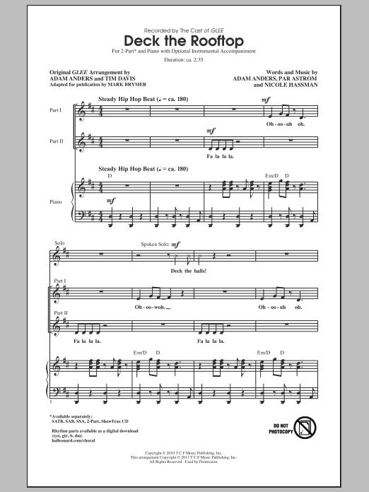 Deck The Rooftop (arr. Mark Brymer) sheet music