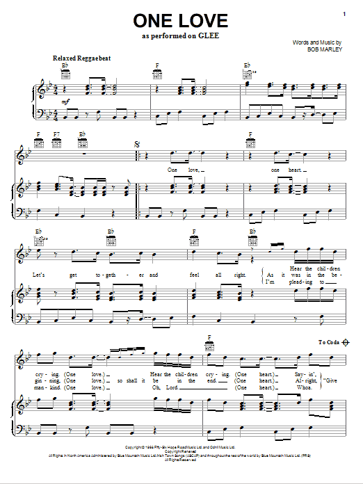 One Love sheet music
