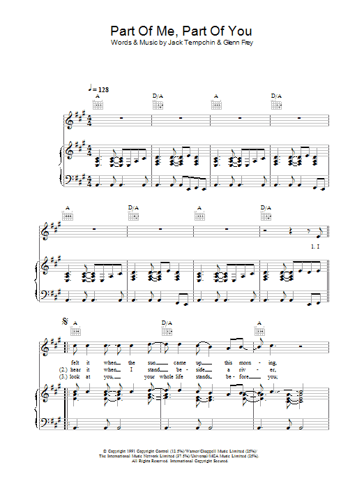 Part Of Me, Part Of You sheet music