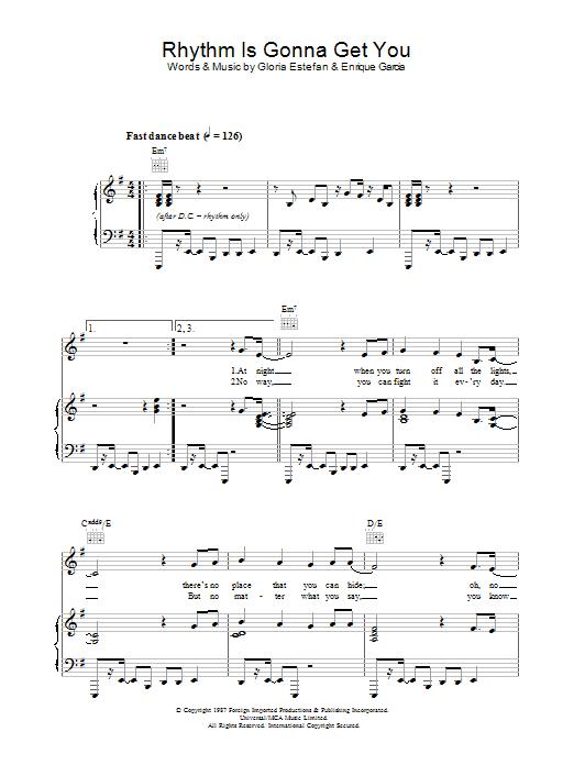 Rhythm Is Gonna Get You sheet music
