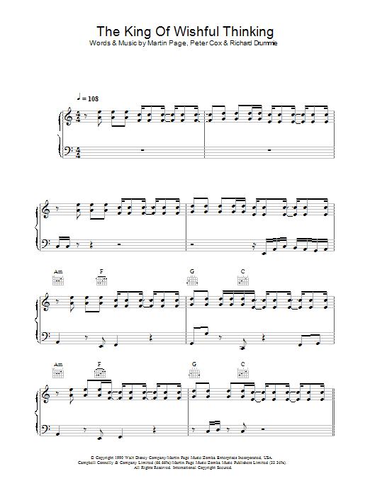 The King Of Wishful Thinking sheet music