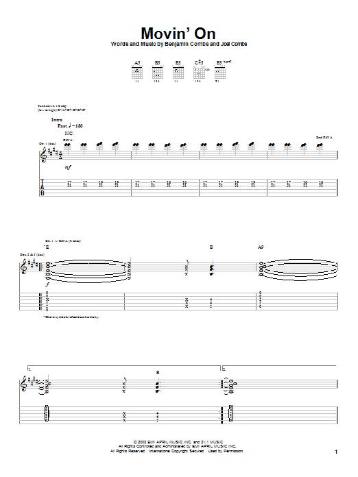 Movin' On sheet music
