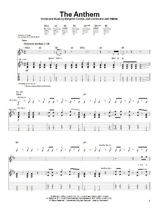 The Anthem sheet music