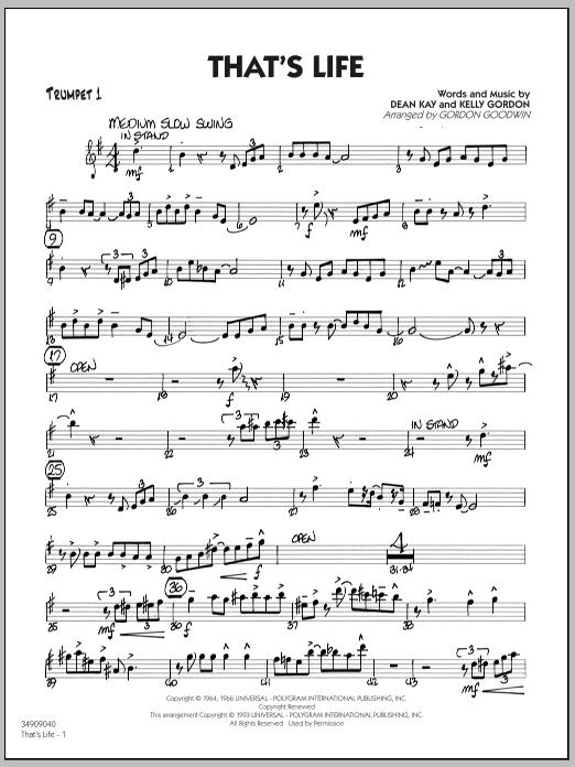That's Life - Trumpet 1 sheet music