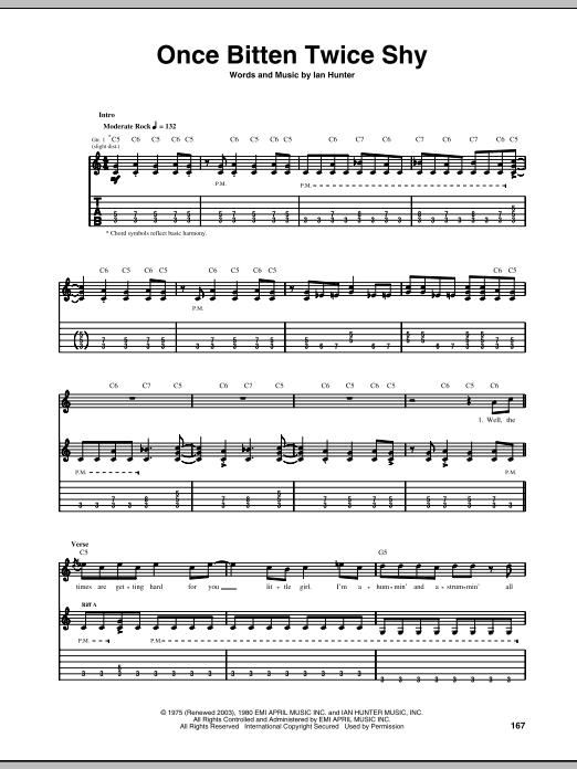 Once Bitten Twice Shy sheet music