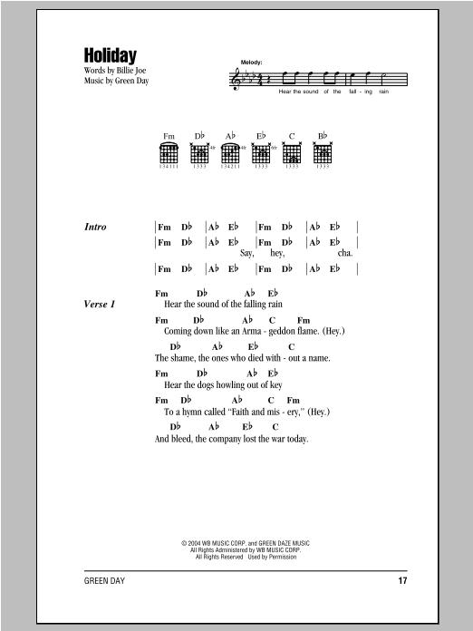 Holiday sheet music