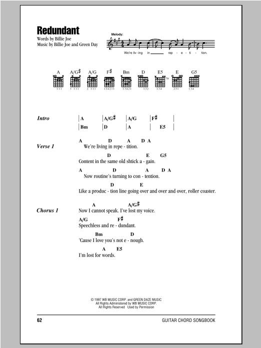 Redundant sheet music