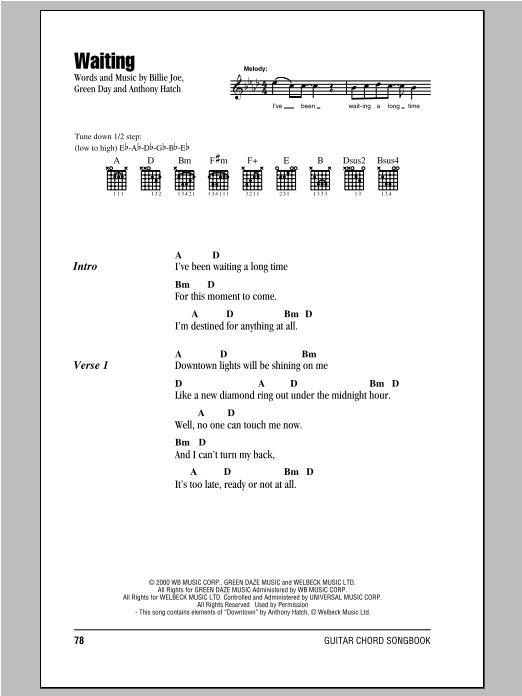 Waiting sheet music