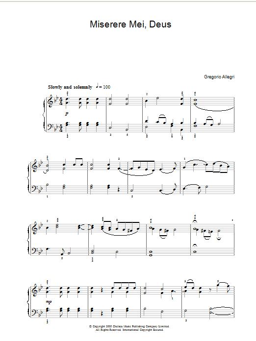 Miserere sheet music
