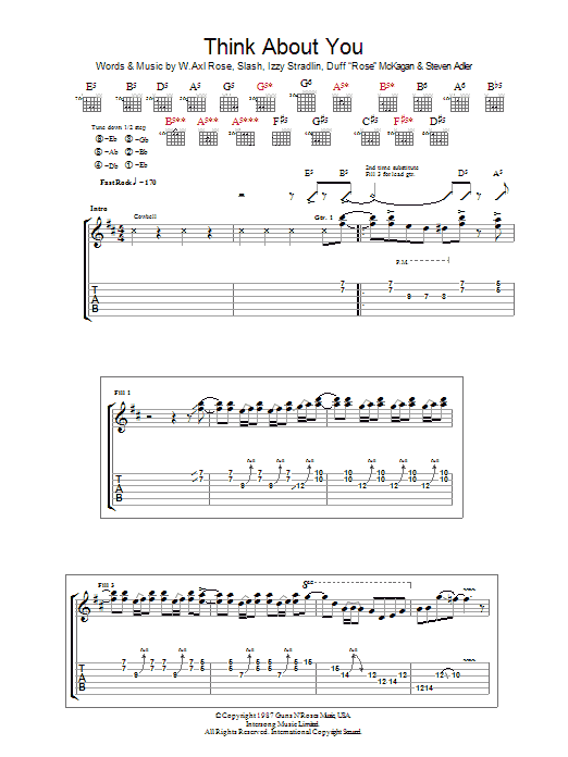 Think About You sheet music