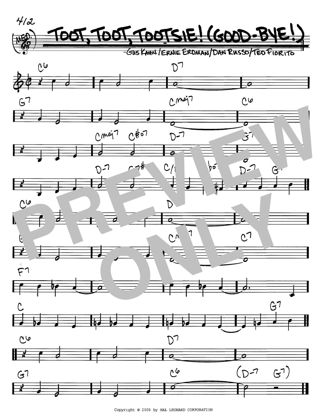 Toot, Toot, Tootsie! (Good-bye!) sheet music