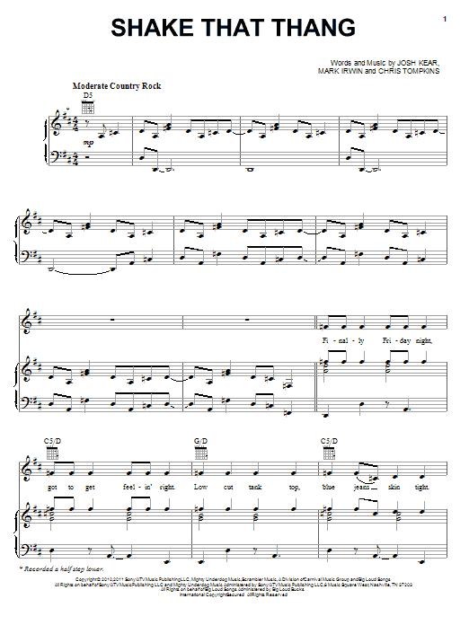 Shake That Thang sheet music