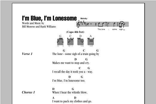 I'm Blue, I'm Lonesome sheet music
