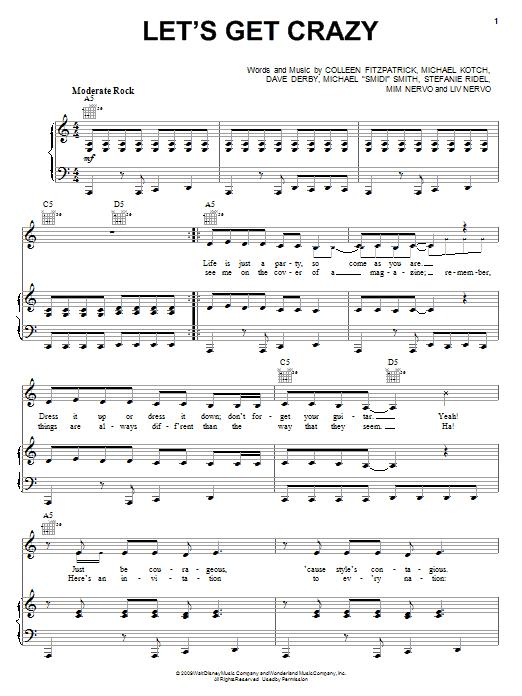 Let's Get Crazy sheet music