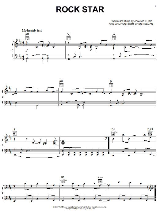 Rock Star sheet music